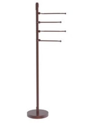 Allied Brass Floor Standing 49-in 4 Pivoting Swing Arm Towel Holder (Antique Copper)