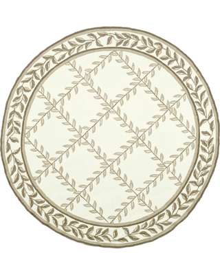 Safavieh Easy Care Ivory/Sage (Ivory/Green) 6 ft. x 6 ft. Round Area Rug