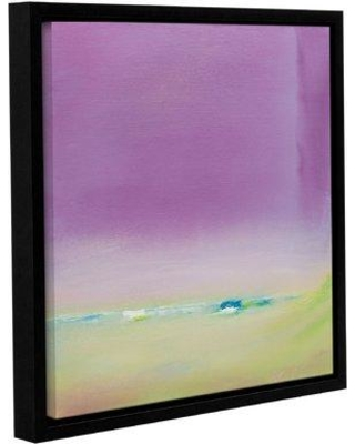"""Wrought Studio 'Now and Then' Framed Painting Print on Canvas VRKG1352 Size: 10"""" H x 10"""" W x 2"""" D"""
