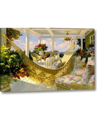 """Astoria Grand 'Porches and Patios' Print on Wrapped Canvas BF156216 Size: 21"""" H x 32"""" W x 1.5"""" D"""