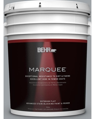 BEHR MARQUEE 5 gal. #N510-4 Supernova Flat Exterior Paint and Primer in One
