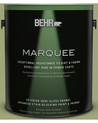 BEHR MARQUEE 1 gal. #T18-16 Nurturing Semi-Gloss Enamel Exterior Paint and Primer in One