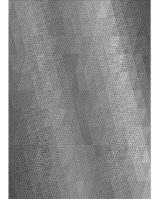 East Urban Home Abstract Wool Gray Area Rug X113616804 Rug Size: Rectangle 2' x 4'