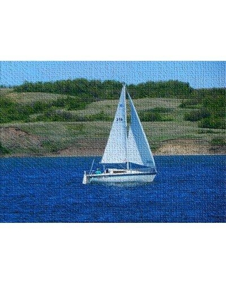 East Urban Home Sail Boat Blue Area Rug X112014596 Rug Size: Rectangle 3' x 5'