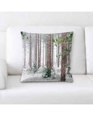 East Urban Home Woods Throw Pillow W000393235
