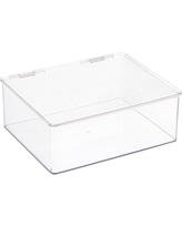 Hinged-Lid Stackable Box