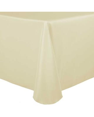 Stain-Resistant Solid 70-Inch x 104-Inch Oval Tablecloth in Beige