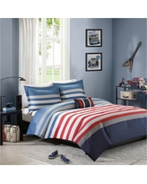 Justin Comforter Set (Full/Queen) 4pc - Red&Blue