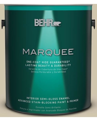 BEHR MARQUEE 1 gal. Home Decorators Collection #HDC-NT-18 Yuma Sand One-Coat Hide Semi-Gloss Enamel Interior Paint & Primer