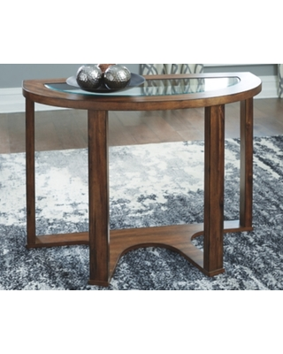Hannery Sofa/Console Table, Brown