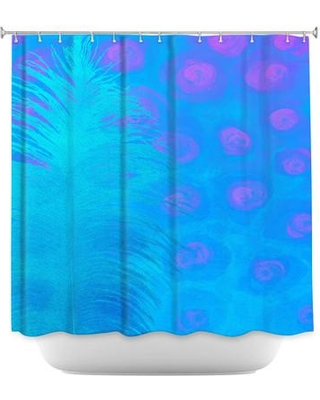 DiaNocheDesigns Bluebell Single Shower Curtain SHO-ChinaCarnellaBluebell