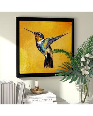 Special Prices On Bay Isle Home Hummingbird Floater Frame Print On Canvas Cbzj7254 Size 18 H X 18 W X 2 D