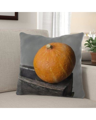 The Holiday Aisle Wieland Pumpkin Indoor/Outdoor Throw Pillow W000312783