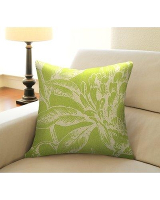 Shopping Special For Bay Isle Home Jasiah Coral Botanical Linen Throw Pillow Down Feather In Chartreuse Green Size 20x20 Wayfair Cs079pch