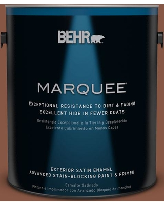 BEHR MARQUEE 1 gal. #S220-1 Autumn Blush Satin Enamel Exterior Paint and Primer in One