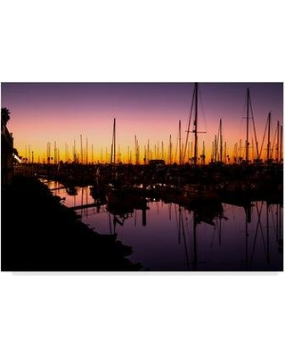 "Breakwater Bay 'Marina Twilight' Photographic Print on Wrapped Canvas BKWT9676 Size: 12"" H x 19"" W x 2"" D"