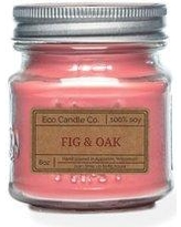 EcoCandleCo Fig and Oak Scented Jar Candle 8FIG