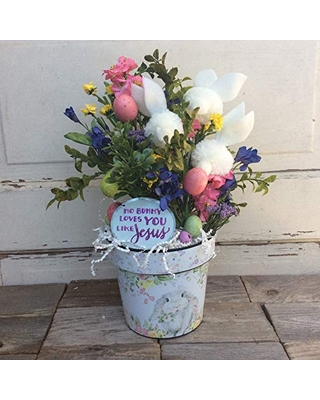 AGD Easter Decor – Happy Easter Welcome Spring Floral Display
