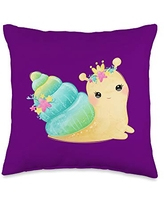 Savings On Sea Snail Gifts Shirts Hoodies Snail Throw Pillow 18x18 Multicolor