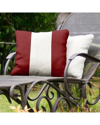 """East Urban Home South Carolina Indoor/Outdoor Throw Pillow EBLE4441 Size: 16"""" H x 16"""" W Color: Garnet/White Middle"""