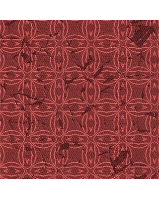 Winston Porter Abstract Wool Red Area Rug W002456674 Rug Size: Square 5'