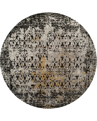 Safavieh Classic Vintage Black/Silver 6 ft. x 6 ft. Round Area Rug