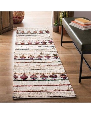 """Bungalow Rose Natura 657 Area Rug In Ivory / Red W002212943 Rug Size: Runner 2'3"""" x 8'"""