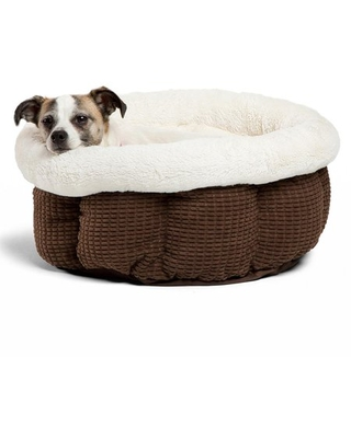 Best Friends by Sheri Cozy Mason Cuddle Cup Pet Dog Bed, Standard Dark Chocolate