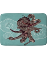 "Valentina Ramos Octopus Bloom Cushion Bath Mat (36""x24"") Blue - Deny Designs"