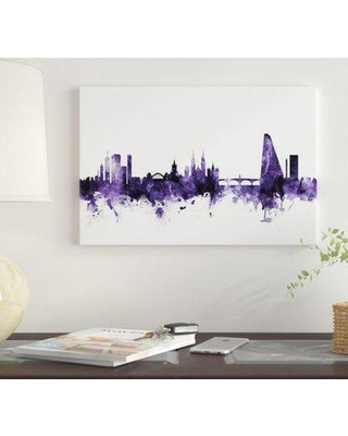 """East Urban Home 'Basel Switzerland Skyline' by Michael Tompsett Graphic Art Print on Wrapped Canvas EUME4232 Size: 18"""" x 26"""" x 0.75"""""""