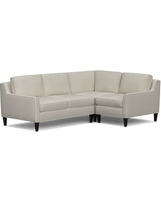 Beverly Upholstered Left Arm 3 Piece Corner Sectional, Polyester Wrapped Cushions, everydaysuede(TM) Stone