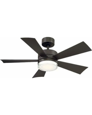 Modern Forms Wynd Outdoor Rated 42 Inch Ceiling Fan with Light Kit - FR-W1801-42L-35-BZ