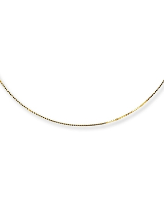 Jared The Galleria Of Jewelry Box Chain Necklace 14K Yellow Gold 16 Length
