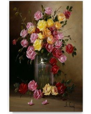 "Trademark Art 'Floral Still Life' Oil Painting Print on Wrapped Canvas ALI20328-C Size: 32"" H x 22"" W"
