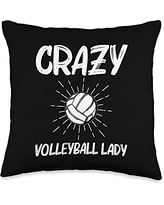 Best Volleyball Team Captain Ball Lovers Cool Volleyball Gift For Women Mom Player Indoor Beach Sport Throw Pillow, 16x16, Multicolor