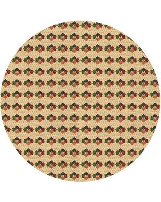 East Urban Home Floral Wool Brown Area Rug W001350355 Rug Size: Round 5'