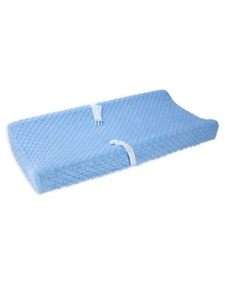 carter's® Bubble Dot Velboa Changing Pad Cover in Blue