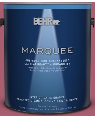 BEHR MARQUEE 1 gal. #MQ1-07 Shine Baby Shine One-Coat Hide Satin Enamel Interior Paint and Primer in One
