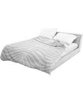 World Menagerie Langdon Lightweight Comforter WRMG2449 Color: Grey/ Ivory, Size: Queen