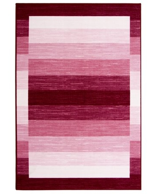 """Mainstays 52"""" x 72"""" Ombre Border Rug Pink"""