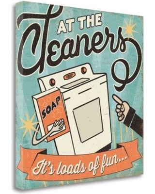"Tangletown Fine Art 'The Cleaners II' by Pela Studio Vintage Advertisement on Wrapped Canvas WA614795-2020c Size: 20"" H x 20"" W"