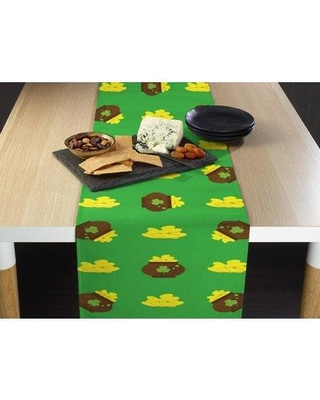 "The Holiday Aisle Ethan Pot Table Runner BF037182 Size: 72"" L x 12"" W Color: Green"