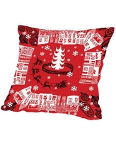 """The Holiday Aisle Holiday Pattern Throw Pillow HLDY4857 Size: 18"""" H x 18"""" W x 2"""" D"""