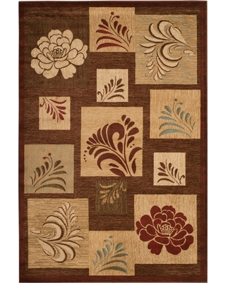 """5'3""""X7'6"""" Floral Loomed Area Rug Brown - Safavieh, Brown/Multi-Colored"""