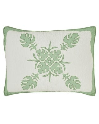 Tommy Bahama_ALL COTTON_ Molokai Bright Green Quilt (Ivory/Green - Standard Sham)