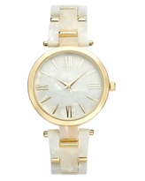 Inc Imitation Mother-of-Pearl Bracelet Watch 40mm, Created for Macy's
