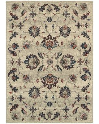"""Charlton Home Billings Oriental Beige Area Rug DISM3242 Rug Size: Rectangle 6'7"""" x 9'6"""""""