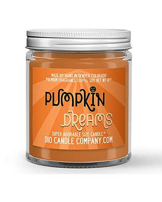 Pumpkin Dreams Halloween Candle (8oz) Spiced Waffles Scented Soy