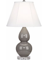Robert Abbey Double Gourd Smokey Taupe Ceramic Table Lamp