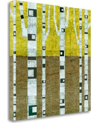 """Tangletown Fine Art 'Fall Birches' Graphic Art Print on Wrapped Canvas ICC913D-2020c Size: 20"""" H x 20"""" W"""